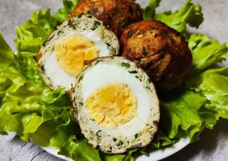 Telur Bersalut Isi Ayam - velavinkabakery.com