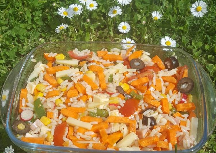 Salade de riz et carotte #carotte #batailleencuisine