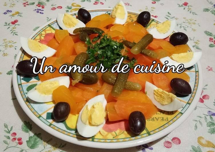 Salade de carottes aux oeufs durs