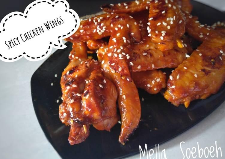 Spicy Chicken Wings #Recooked_Susan_Gracia