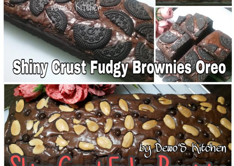Cara Gampang Membuat Shiny Crust Fudgy Brownies, Bisa Manjain Lidah