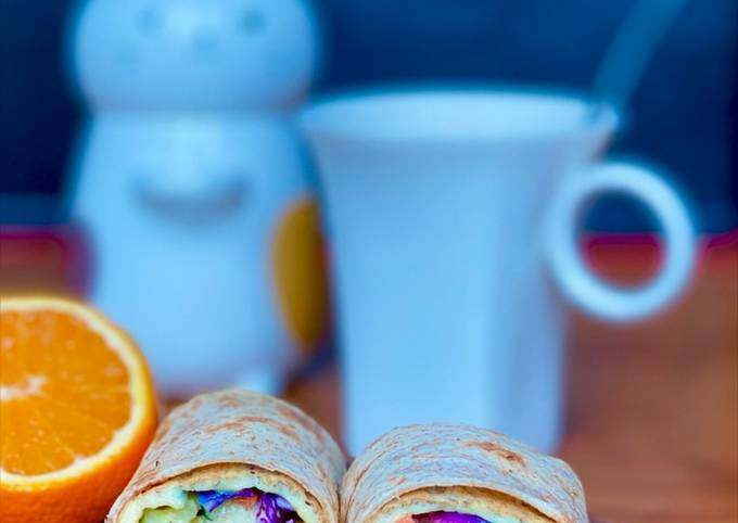 Salad Omelette Roll (Eat Clean Healthy Breakfast)