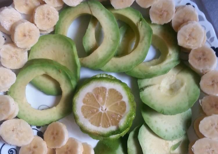 Banana-Avocado Fruit pudding