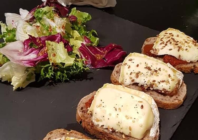 Bruschetta fromage /salade