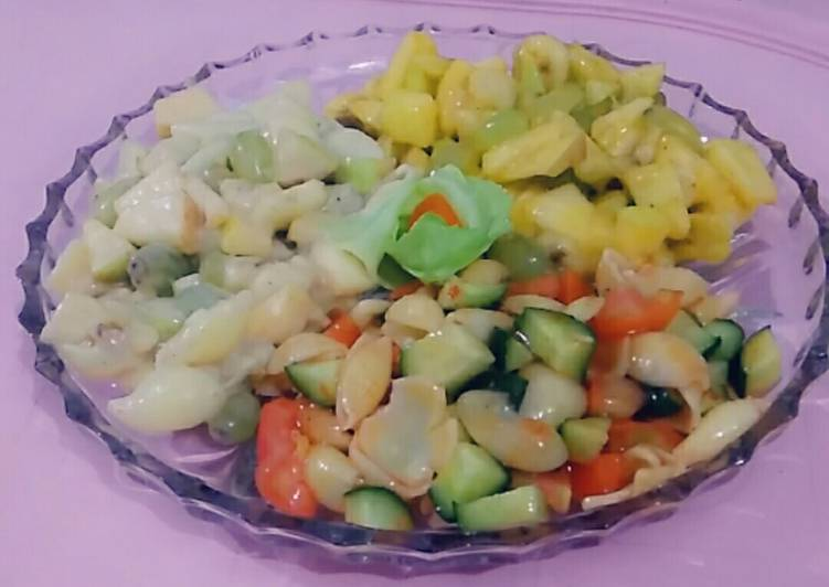 Recipe of Homemade #Fruit, #Mayonnaise, #Macroni Salads