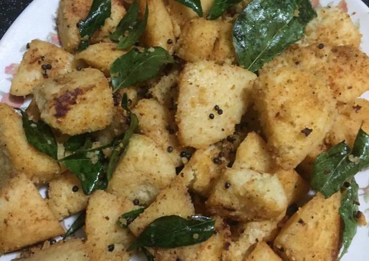 Recipe of Award-winning Instant besan fried idli