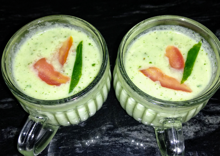 Chilled Cucumber Curd Soup