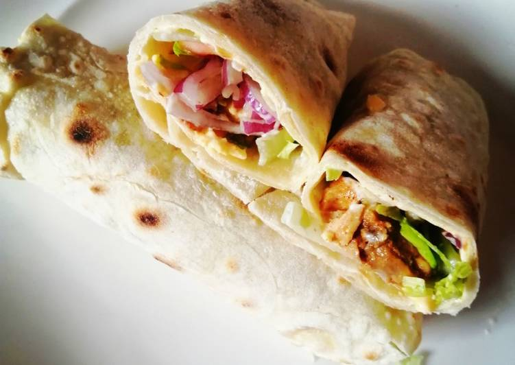 Recipe of Ultimate Homemade Chicken Wraps