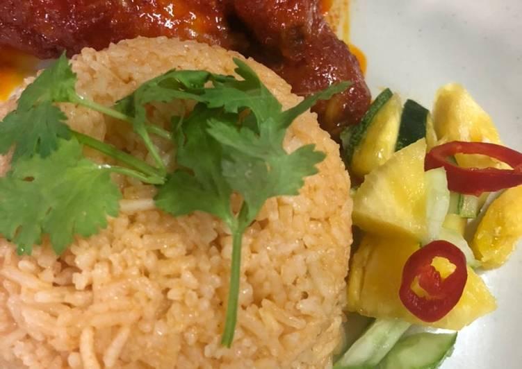 Nasi tomato Ayam Masak Merah pasti repeat