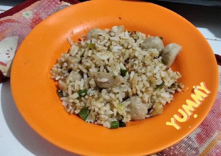 Nasi goreng ikan asin lombok ijo