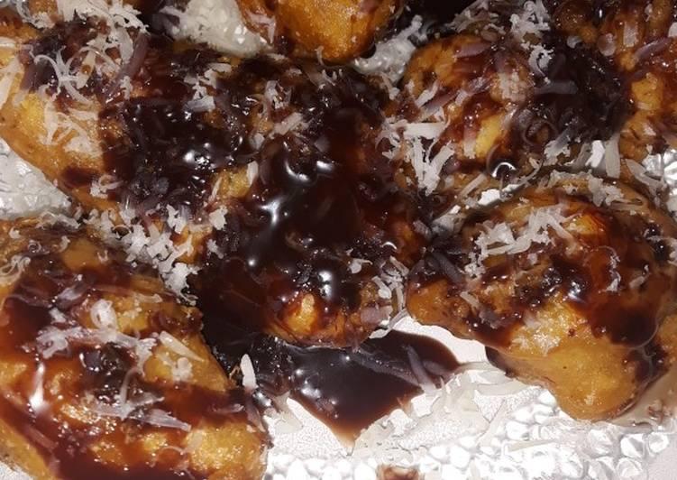 Pisang keju coklat lumer