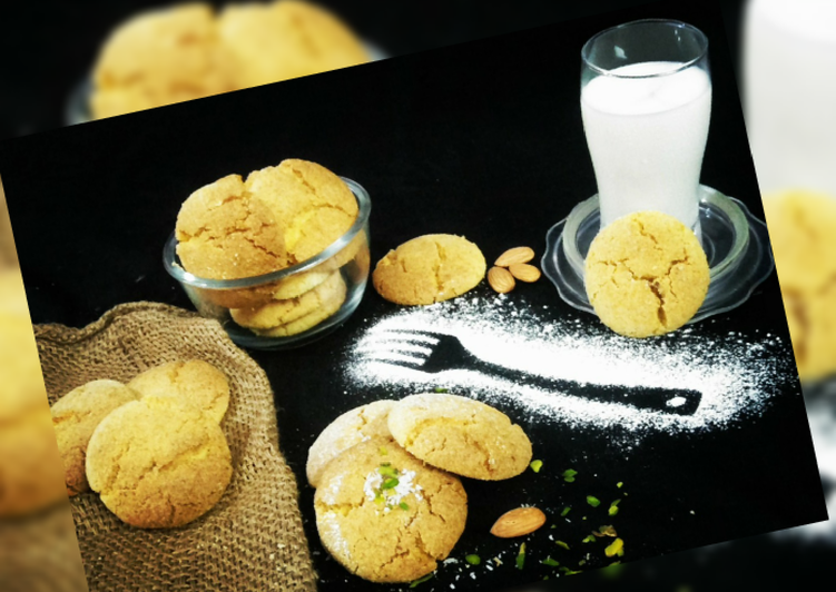 Wheat flour Custard Coconut Cookies