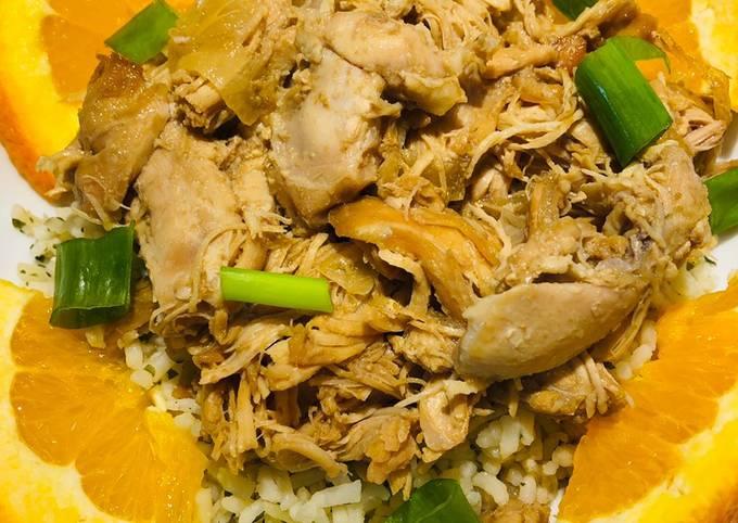 Crockpot Orange 🍊 Teriyaki Chicken