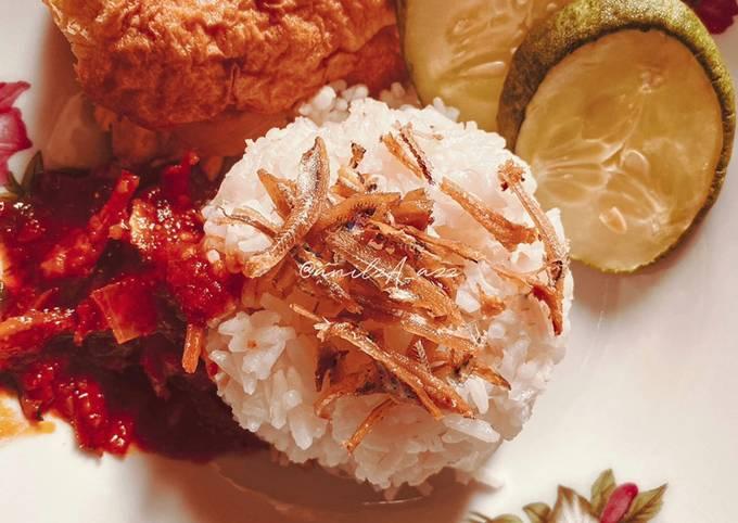 Nasi Lemak (cara masak nasinya untuk Nasi Lemak)