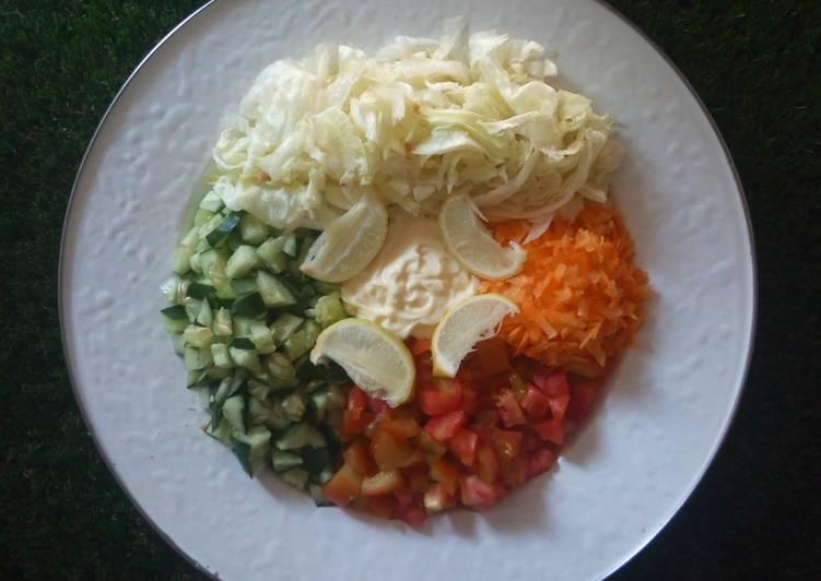 Salad sayur yang sehat & segar 🥕🍅🥒🍋