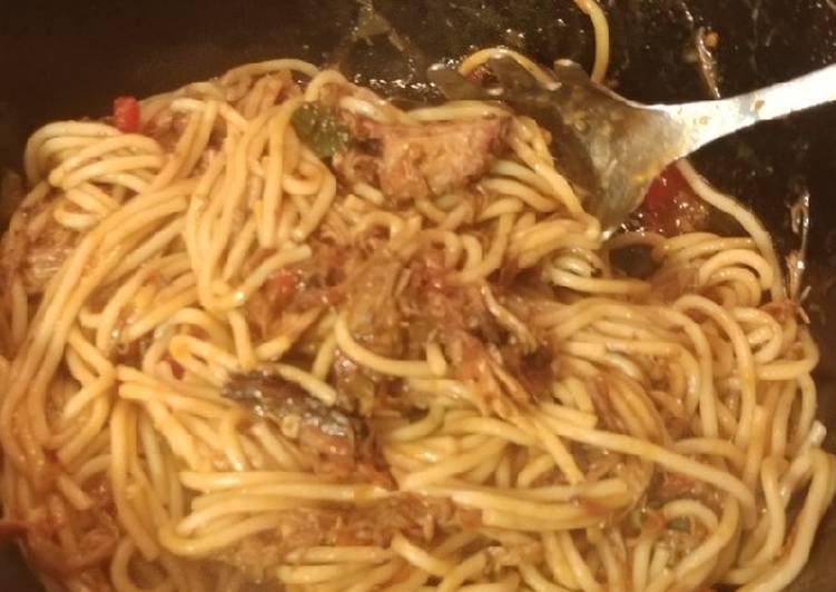Recipe: Tasty Bbq Spaghetti