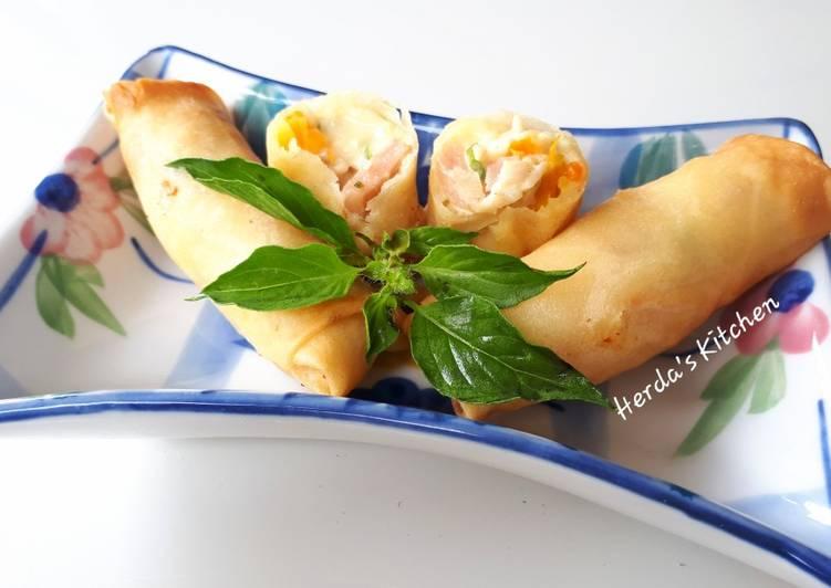 Lumpia Ayam Carbonara