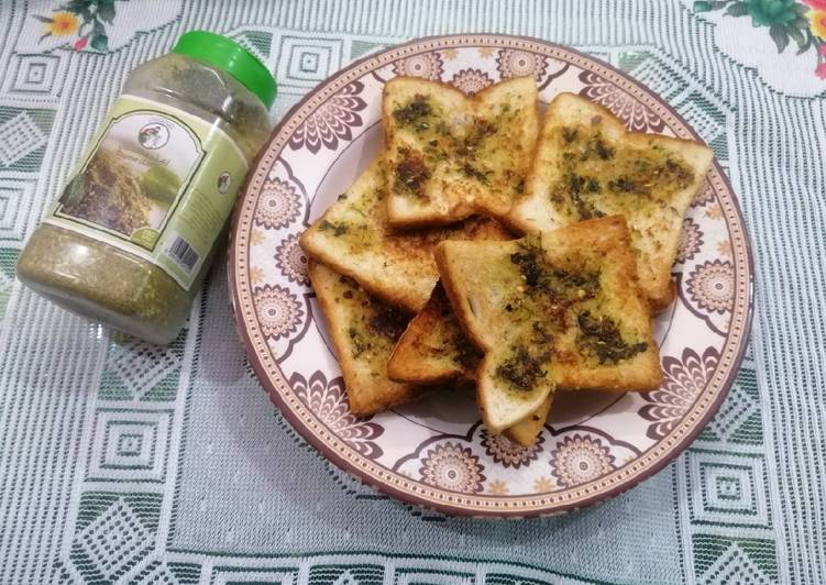 Tawa Garlic Bread with Olive Oil