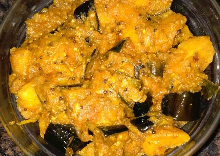 Simple Way to Prepare Super Quick Homemade Aloo Batau/eggplants #author's marathon