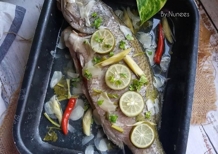 Ikan Siakap Stim Limau