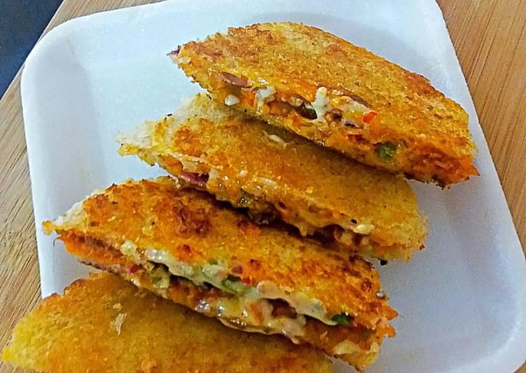 Recipe: Appetizing Cheese pizza sandwich