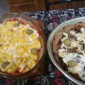 Pizza con masa de harina integral..?