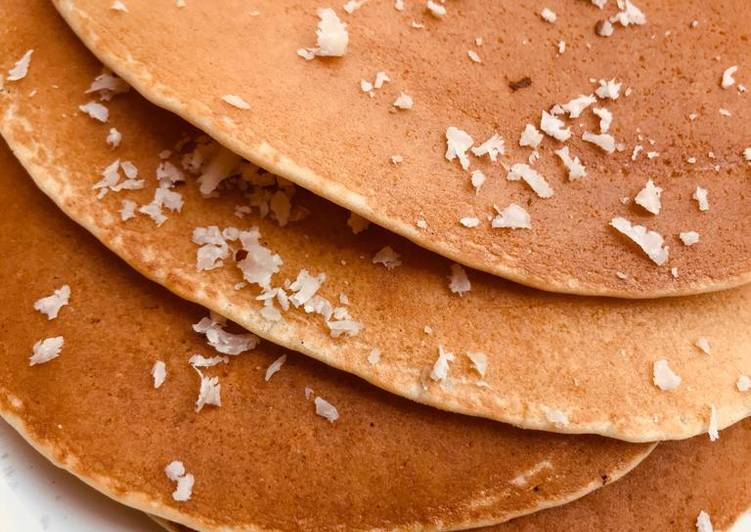 Eggless coconut pancake