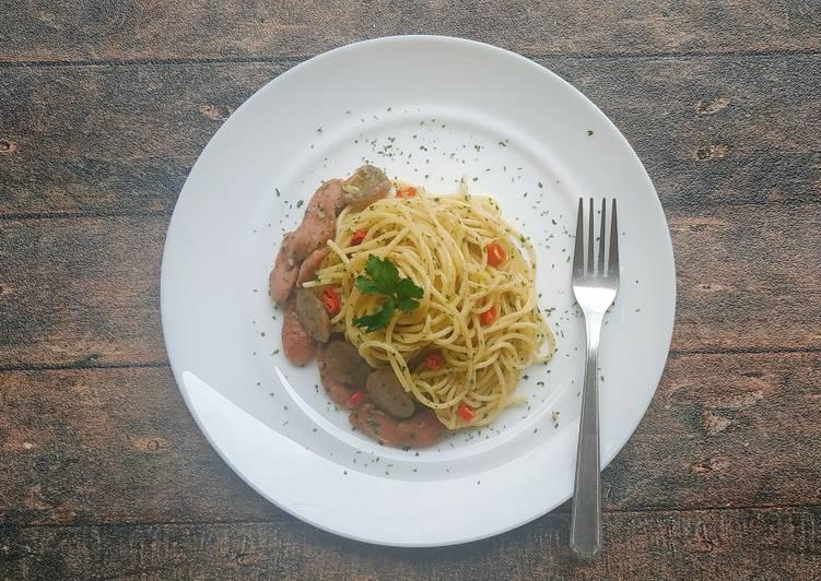 Spaghetti Aglio Olio Sosis Bakso