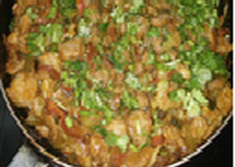 Chilli Soya Chunks (subzi)