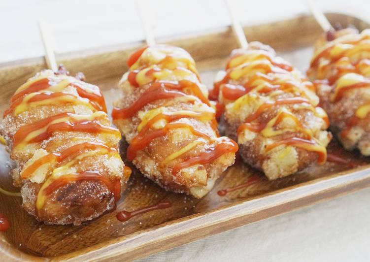Resep aslinya hot dog korea. Bikin dari 0 gampang, bisa buat jualan