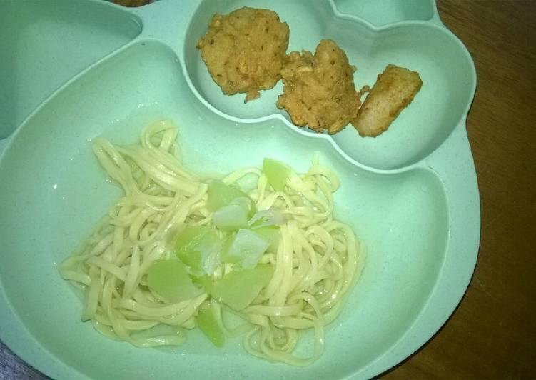 Day. 211 Sayur Labu Siam, Perkedel Tahu, Dori Goreng (12 month+)