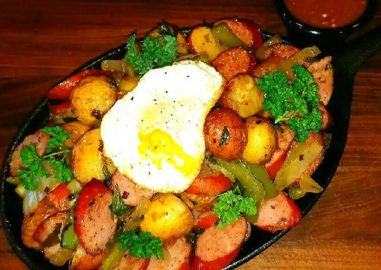 Recipe of Perfect Mike's Sizzling Sausage Egg & Potato Breakfast Skillets