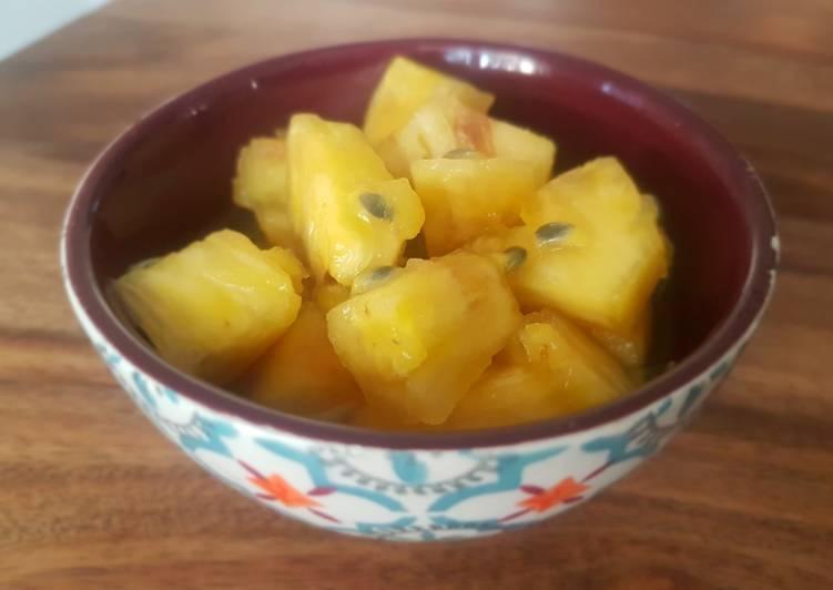 Recette: Salade de fruits exotiques au rhum et à la vanille