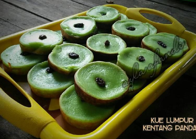 Kue Lumpur Kentang Pandan - cookandrecipe.com