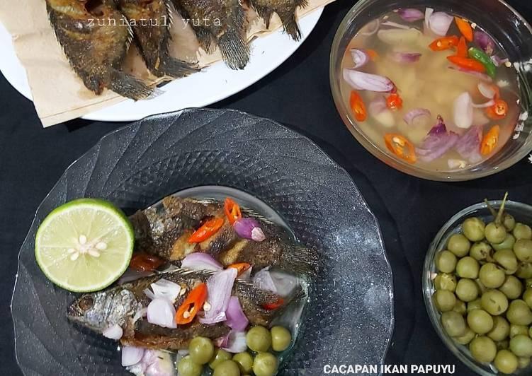 Cacapan Ikan Papuyu Goreng
