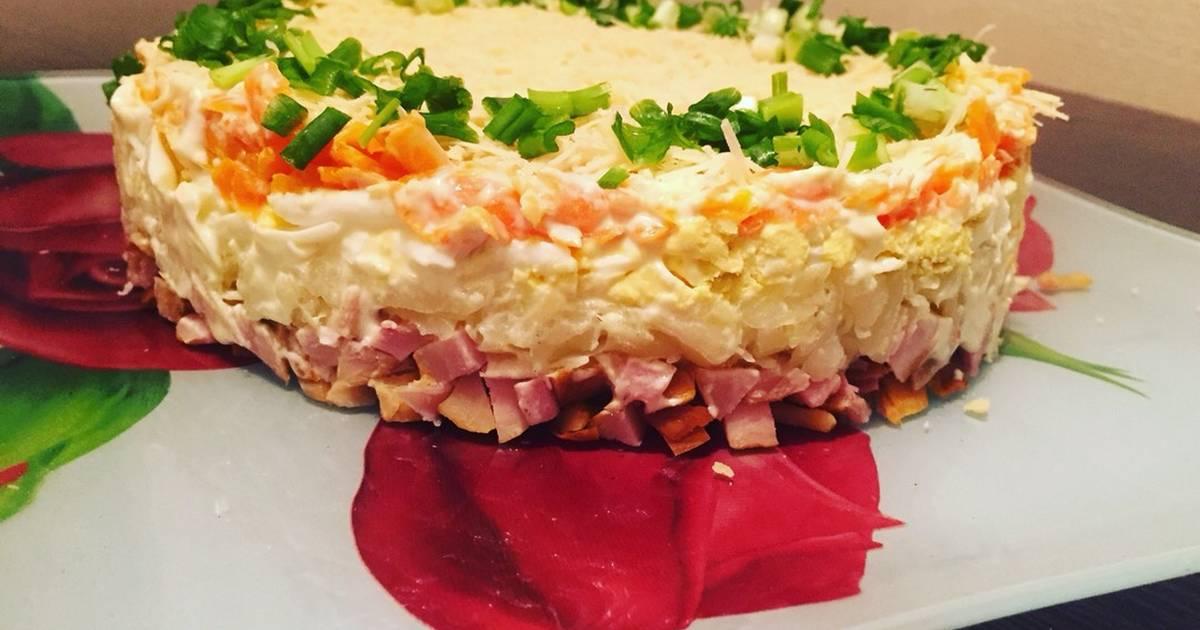 травка салат с копченым сыром пошаговый фото рецепт лишь несколько миллионов