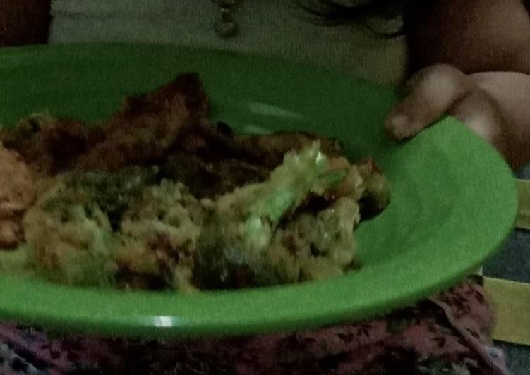 Brokoli dan jamur tepung cemilan homemade anak balita sehat