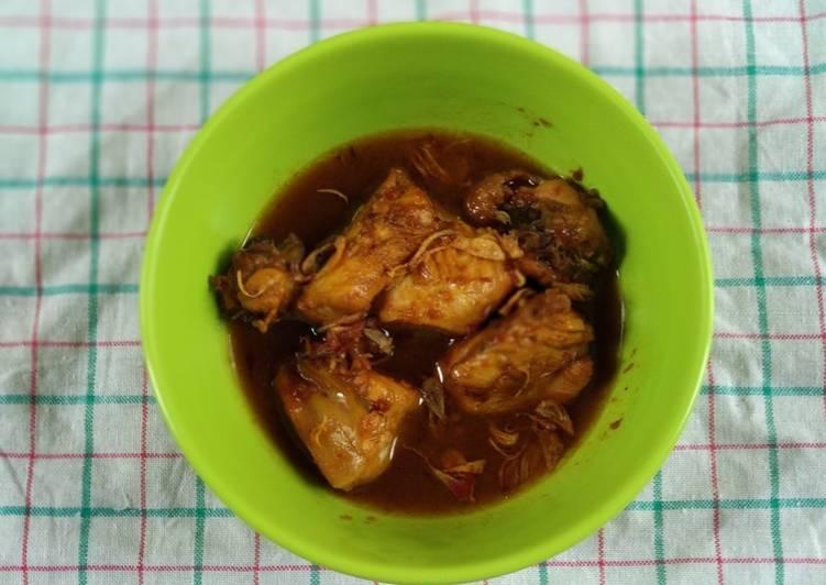 Ayam Kecap Pedas Manis Kuah