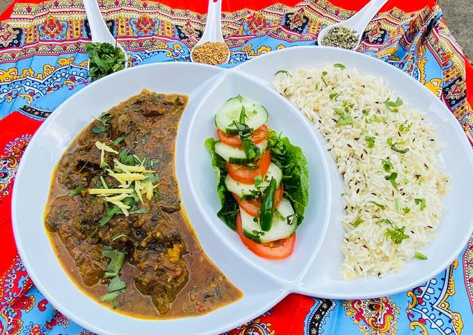 Punjabi Beef And Spinach Curry  #mycookbook