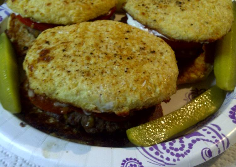 Something unique but still yummy, or pepperoni burger with cauliflower bun