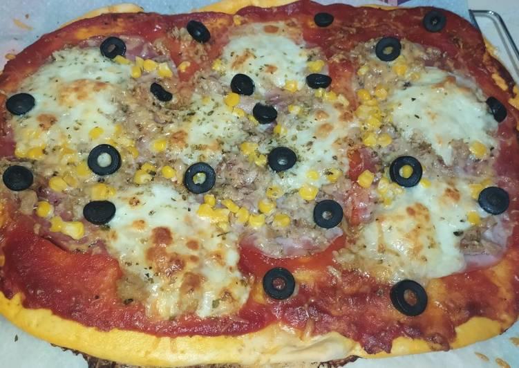 Pizza casera 🍕🍕🍕🍕