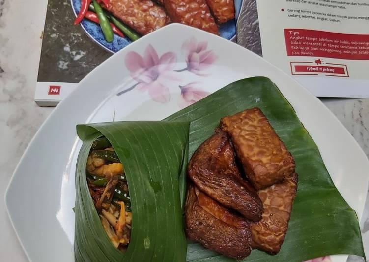 Tahu & Tempe bacem bumbu iris (menu angkringan)