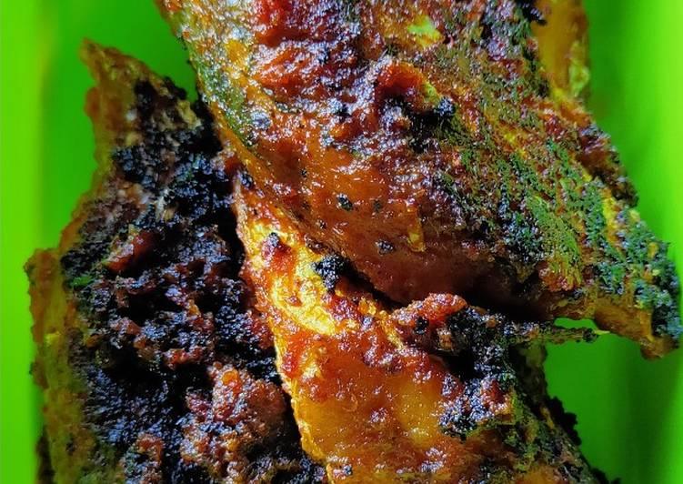 Ikan kembung bakar teflon