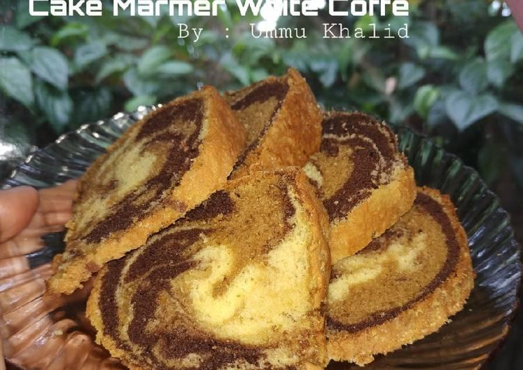 Cake Marmer White koffie