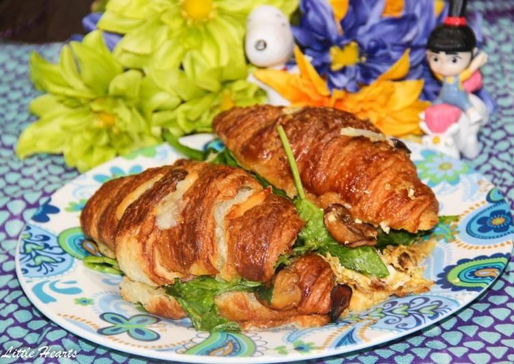 Egg Croissant Breakfast Bake