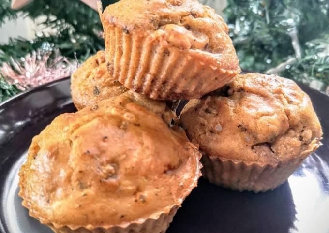 Muffins foie gras figue et noix