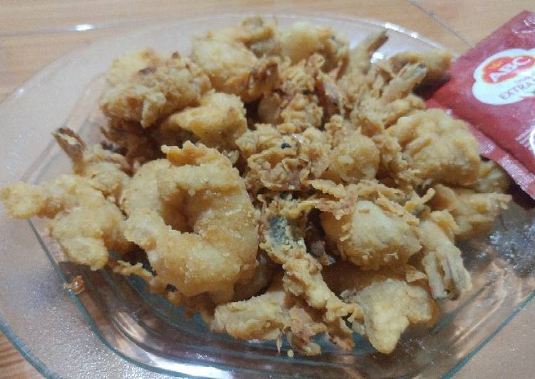 Udang goreng tepung crispy ala fried chicken