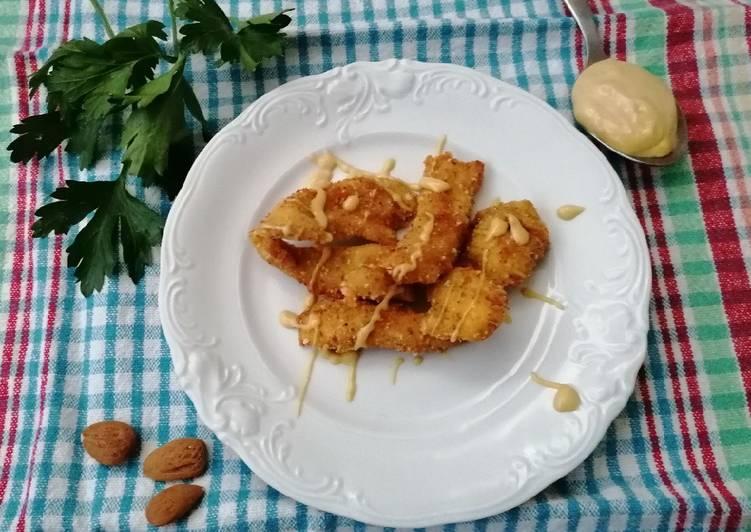 Straccetti di pollo con maionese alla senape