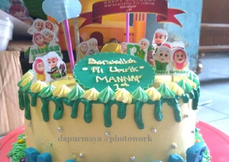 Cake ultah simple - cookandrecipe.com