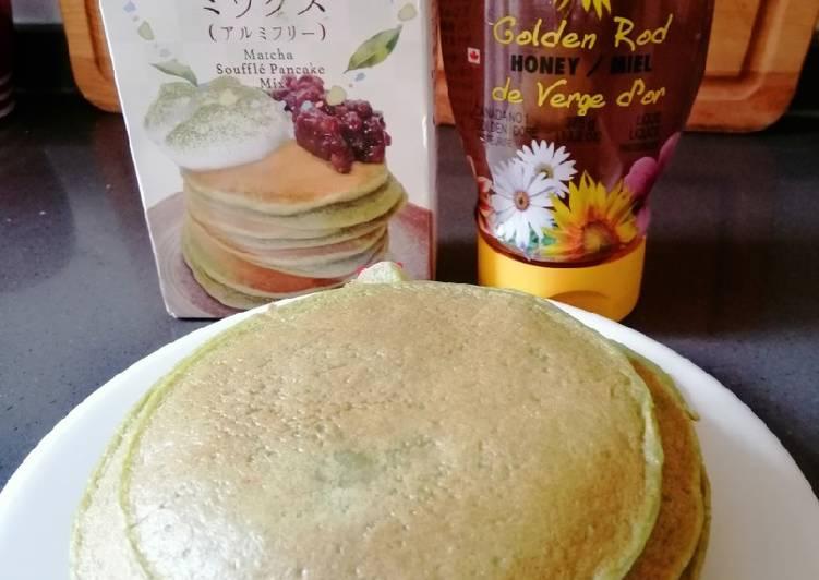 Steps to Make Ultimate Green Tea Pancake
